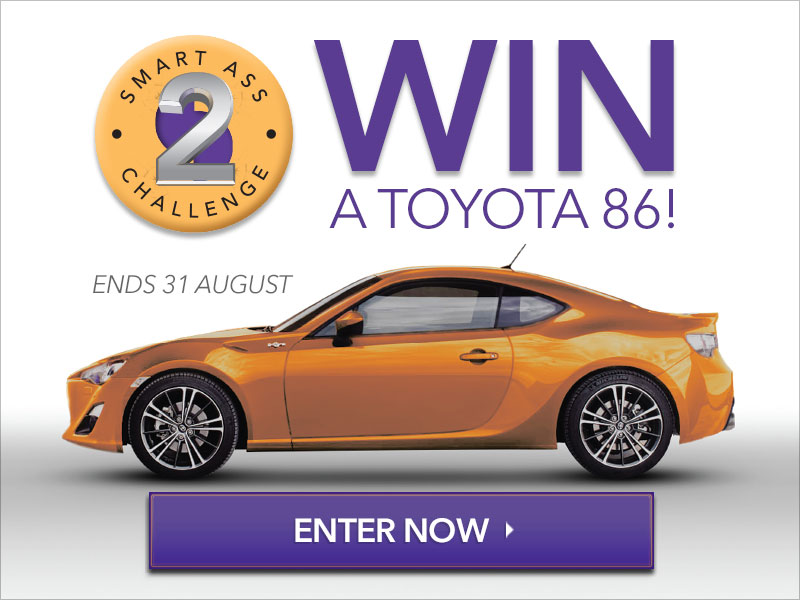 WIN a Toyota 86 - Enter now!